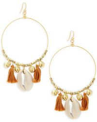 Chan Luu - Tassel Hoop Earrings - Lyst