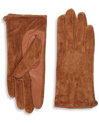 Calvin Klein - Suede Gloves - Lyst