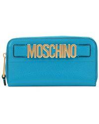 Moschino - Logo Leather Zip-around Wallet - Lyst