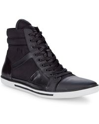 Kenneth Cole - Upside-down Leather Trainers - Lyst