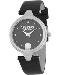 Versus - Quartz Stainless Steel Leather-strap Watch - Lyst
