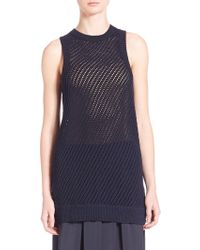 Vince | Mesh Stitched Tank Top | Lyst