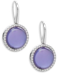 Roberto Coin - Pearl, Diamond, Amethyst And 18k White Gold Fantasia Triplet Earrings - Lyst