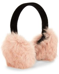 Surell - Rabbit Fur Earmuffs - Lyst