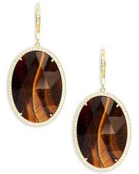 Saks Fifth Avenue - Goldtone Cubic Zirconia Earrings - Lyst