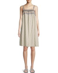 Beach Lunch Lounge - Printed Smocked Dress Cover-up - Lyst