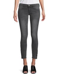 Etienne Marcel - Buttoned Ankle Skinny Jeans - Lyst