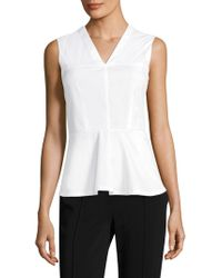 Yigal Azrouël - V-neck Peplum Top - Lyst
