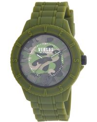 Versus - 42mm Tokyo Camo Dial Silicone Strap Watch - Lyst