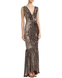 David Meister - Sleeveless Velvet & Embellished Gown - Lyst