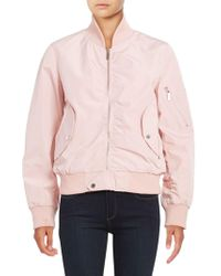 French Connection - Zip-front Bomber Jacket - Lyst