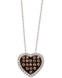 Le Vian - Chocolate Diamond Heart Pendant In 14 Kt. White Gold - Lyst
