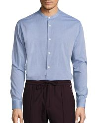 Vince - Banded Collar Cotton Shirt - Lyst
