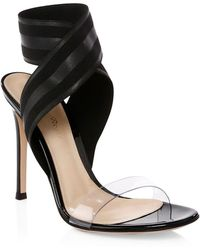 Gianvito Rossi - Crisscross Ankle-strap Sandals - Lyst