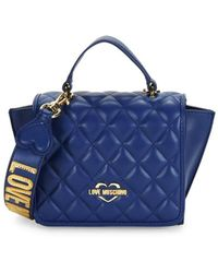 Love Moschino - Quilted Winged Crossbody Bag - Lyst
