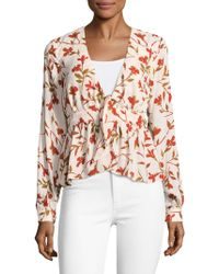 Lovers + Friends - Hermosa Printed V-neck Top - Lyst