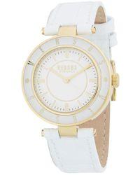 Versus - 34mm White Case White Dial Logo Strap Watch - Lyst