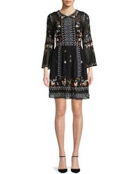 French Connection - Bijou Embroidered Fit-&-flare Dress - Lyst