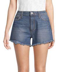 Joe's - Teresa High-rise Frayed Denim Shorts - Lyst