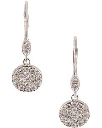 Meira T - Diamond And 14k White Gold Drop Earrings - Lyst