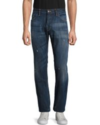 Shockoe Atelier - Distressed Cotton Denim Pants - Lyst