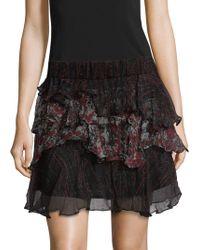 IRO - Loey Tiered Ruffle Skirt - Lyst