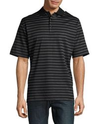 Bugatchi - Tonal Striped Polo Shirt - Lyst