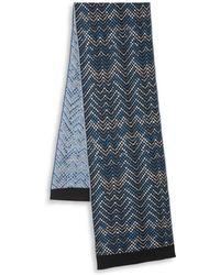 Missoni - Chevron Wool-blend Scarf - Lyst