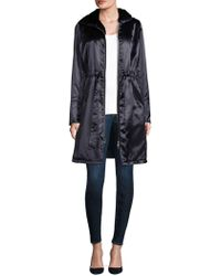 e865368ef41ff Kendall + Kylie Cropped Shiny Puffer Coat in Black - Lyst