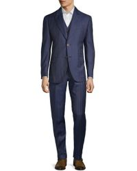 Brioni - Wool & Mohair Striped Suit - Lyst