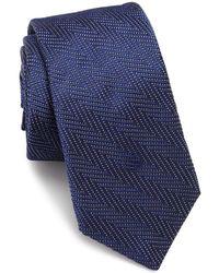 Ike Behar - Chevron Silk Tie - Lyst