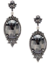 Bavna - Black Spinel And Sterling Silver Drop Earrings - Lyst