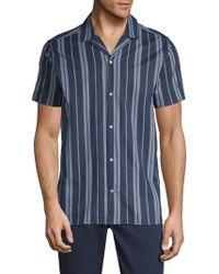 Slate & Stone - Striped Short-sleeve Cotton Button-down Shirt - Lyst