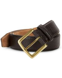 Cole Haan - Textured Leather Belt - Lyst