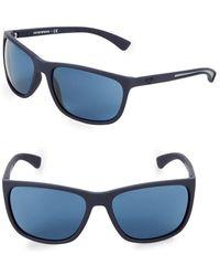 4888214486c7 Emporio Armani - Ea4078 62mm Square Sunglasses - Lyst