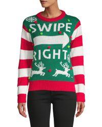 American Stitch - Stripe Crewneck Sweater - Lyst