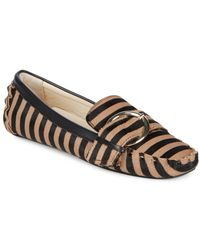 Frances Valentine - Striped Calf-hair Moccasins - Lyst
