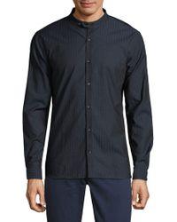 John Varvatos | Pinstripe Cotton Button-down Shirt | Lyst