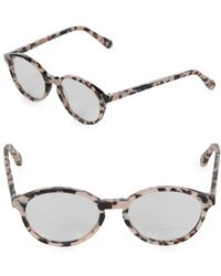 0fb4ad2751 Stella McCartney - 51mm Tortoise Shell Round Optical Glasses - Lyst