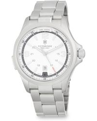 Victorinox - Night Vision Stainless Steel Bracelet Watch - Lyst