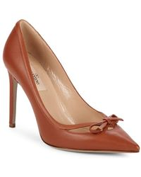 Valentino - Point-toe Leather Stiletto Court Shoes - Lyst