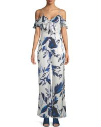 Julia Jordan - Cold-shoulder Printed Jumpsuit - Lyst