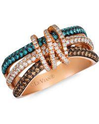 Le Vian - Exotics® 14k Strawberry Gold®, Chocolate Diamonds®, Ice Blue Diamonds & Vanilla Diamonds® Ring - Lyst