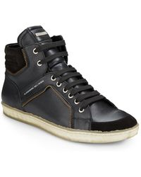 Alessandro Dell'acqua - Hightop Zippertrimmed Trainers - Lyst
