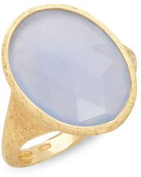 Marco Bicego - Siviglia Chalcedony & 18k Yellow Gold Ring - Lyst