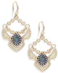Armenta - Old World Boulder Opals, Diamonds, 18k Yellow Gold & Sterling Silver Earrings - Lyst