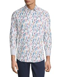 Robert Graham - Dewgrass Cotton Button-down Shirt - Lyst