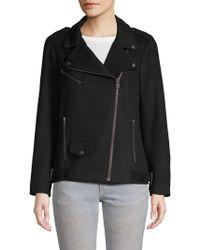 Rebecca Minkoff - Brando Wool Blend Moto Jacket - Lyst