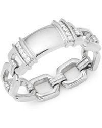 Kwiat - Diamond Tags Diamond & 18k White Gold Fancy Ring - Lyst