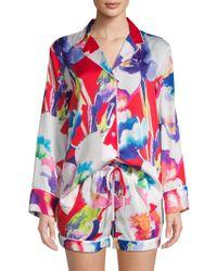 Natori - Floral-print Pyjama Set - Lyst